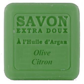 Savon Soap - Olive Citrone with Argan Oil - Fresh-sweet scent of Mediterranean flair sprayed 100 g