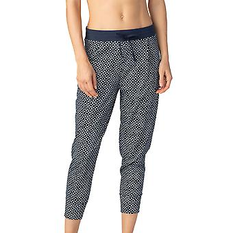 Mey 16962-408 Women's Night2Day Isi Night Blue Geometrische Print Katoen Bijgesneden Pyjama Pant