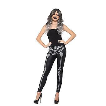 Skeleton Leggings, Halloween Fancy Dress Accessories, UK Size 6-14