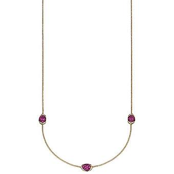Elements Gold Pave Ruby Station Necklace - Rouge et Or