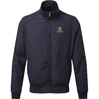 16th 5th The Queens Royal Lancers Colour - Licensed British Army Embroidered Harrington Jacket