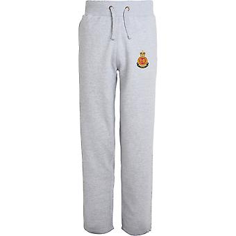 RMAS Royal Military Academy Sandhurst-licenseret British Army broderet åbne hem sweatpants/jogging bunde