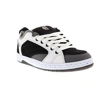 Etnies Czar Mens White Black Suede Athletic Lace Up Skate Shoes