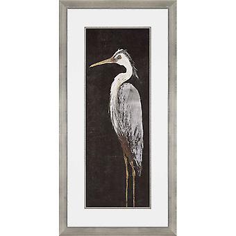 Heron on black i coastal style by paragon