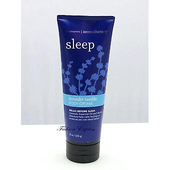 Bath & Body Works Sleep Lavender Vanilla Body Cream 8 oz / 226 g (2 Pack)