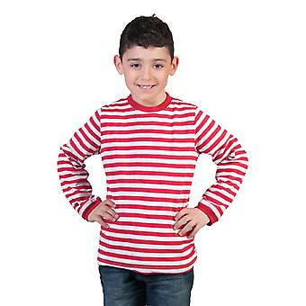 Ringlet shirt for kids red white clown sailor pirate pirate accessory carnival Halloween carnival