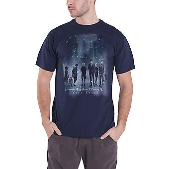 Tokyo Ghoul T Shirt Frosty Stance new Official Manga Mens Blue