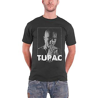 Logo de Praying 2pac Tupac T Shirt All Eyez on Me nouvelle officiel Mens Grey