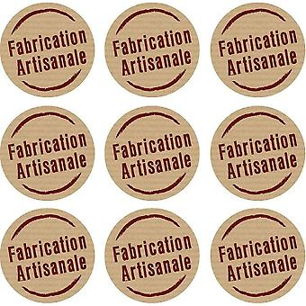 Set 9X Sticker Sticker Macbook Laptop Fabrication Artisanal Vinyl Label