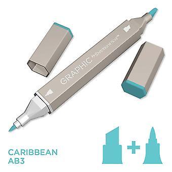 Graphic by Spectrum Noir Single Pens - Caribbean