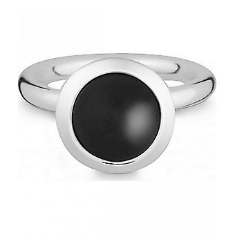 Quinn - Silver ring with onyx - 02183962