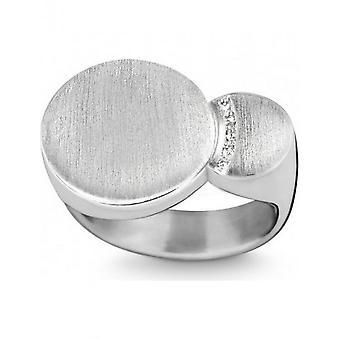 QUINN - Ring - Damen - Silber 925 - Wess. (H) / piqué - Weite 56 - 0210846