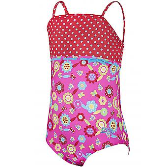 Zoggs Mädchen Flora Classicback Bademode Badeanzug Urlaub Kostüm Rosa/Multi