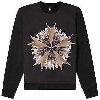 Neil Barrett Military Star Print Sweatshirt Black