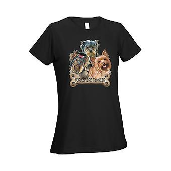 Women's T Shirt Yorkshire Dogs