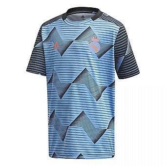 2019-2020 Real Madrid Adidas Pre-Match Training Shirt (Blue)