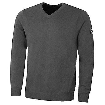 Footjoy Mens Lambswool V-Neck Performance Wool Golf Sweater