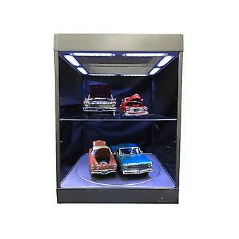 Large Display Case with LED Lights and Turntable