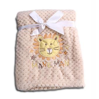 Cangaroo baby blanket Freya, size 80 x 110 cm cuddly baby blanket made of fleece