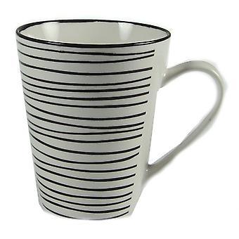 Lignes de tasse 4-pack blanc/noir