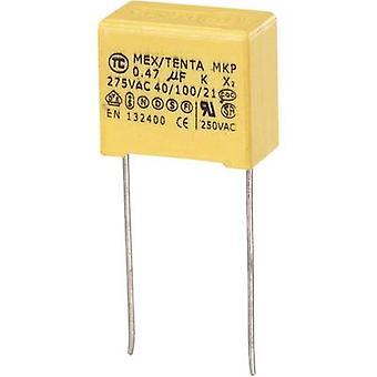 TRU مكونات MKP-X2 1 PC(ق) MKP-X2 قمع الرصاص شعاعي مكثف 0.47 μF 275 V AC 10 % 15 مم (L × العرض × ح) 19 × 11 × 18 مم