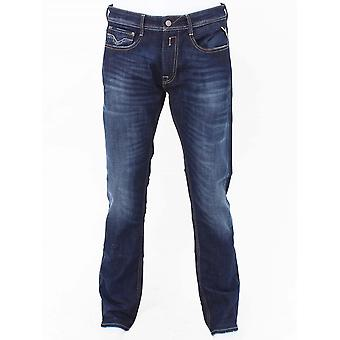 Replay Rocco Comfort Fit Jeans - Mid Wash