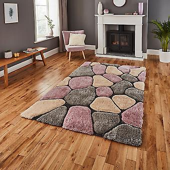 Edle Haus Kieselsteine 5858 grau Rose Rechteck Teppiche Plain/Fast einfache Teppiche