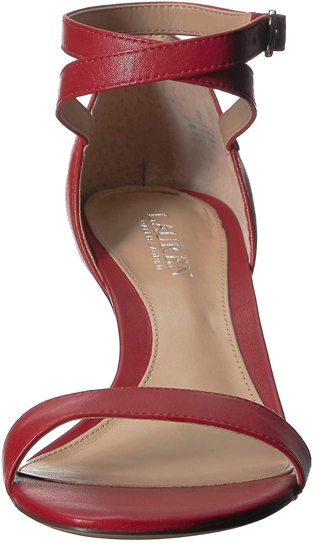 Lauren Ralph Lauren Womens Glinda Leather Strappy Dress Sandals ZF6r9