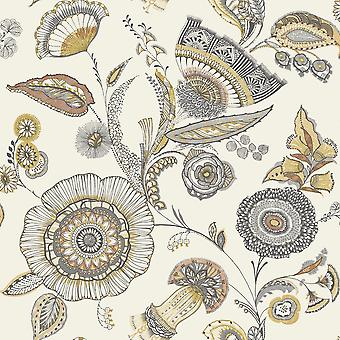 Arthouse Catarina Floral blad patroon behang modern metallic motief 690801