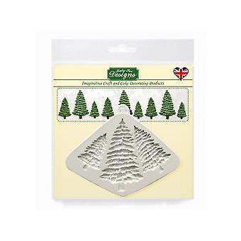 Katy Sue Designs Fir Trees Silhouettes Silicone Mould