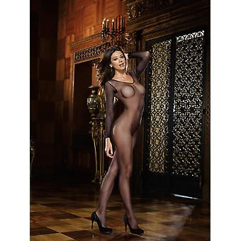 Dreamgirl Long Sleeved Crotchless Fishnet Bodystocking
