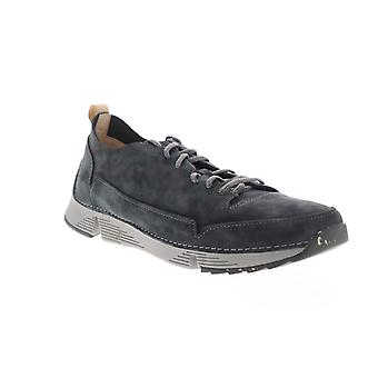 Clarks Tri Spark Mens Gray Leather Lifestyle Sneakers Schoenen
