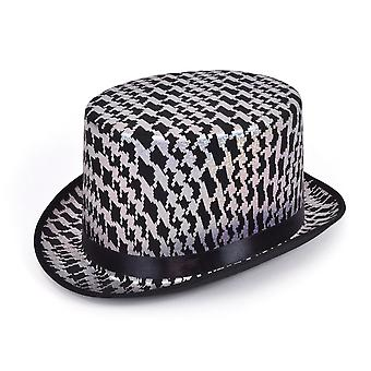Bristol Novelty Unisex Adults Diamond Pattern Top Hat