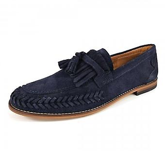 Hudson Alloa Suede Loafers Navy Blue
