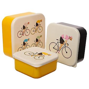 Puckator Set of 3 Lunch Boxes, Cycling