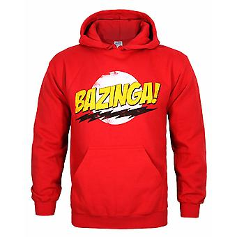Big Bang Theory Bazinga Men's Huppari kuluneet