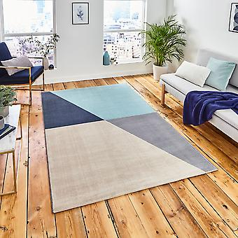 Vancouver 18487 Grey Blue  Rectangle Rugs Modern Rugs