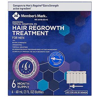Member's Mark Minoxidil 5% Solution Hair Regrowth Treatment (2 fl. oz., 6 ct/month supply)