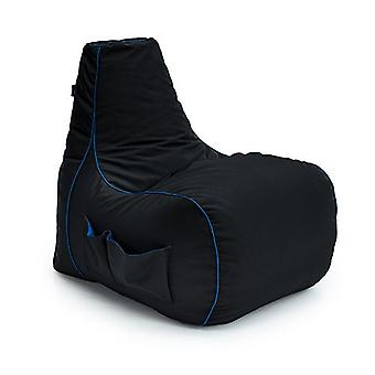 Game Over Soul Reaper Video Gaming Bean Bag Chair | Sala de Estar Interior | Bolsos laterais para controladores | Suporte para fones de ouvido | Design ergonômico para o Gamer Dedicado