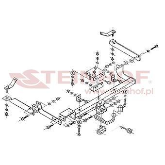 Steinhof Towbar (fixiert 2 Schrauben) für Citroen XSARA Box Karosserie / Schrägheck 1998-2005