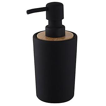 200ml Liquid Soap Refillable Push Dispenser Free Standing Black Stoneware