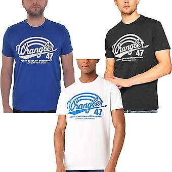 Wrangler hombres Americana manga corta Crew Cuello Gráfico Logo Camiseta Camiseta