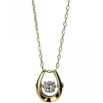 Diamond Collier Ketting - 18K 750 Yellow Gold - 0.09 ct.