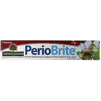 Nature's Answer Periobrite Toothpaste Cinnamint 113g 1593