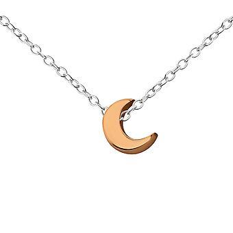 Crescent - 925 Sterling Silver Plain Necklaces - W17732x
