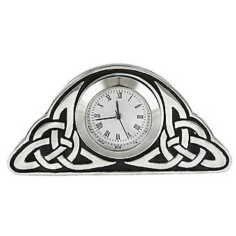 Woodford Quartz Celtic Clock - Silver