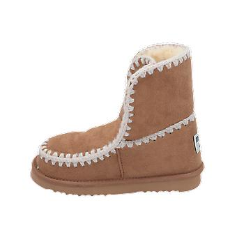 Mou ESKIMO Kids Girls Boots Beige Lace-Up Boots Winter