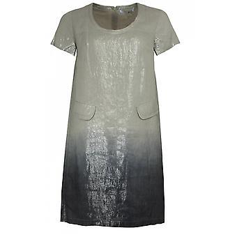 Lauren Vidal Metallic Finished Shift Dress