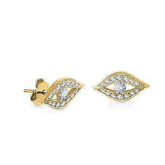 Earrings Little Evil Eyes 18K Gold and Diamonds - Yellow Gold