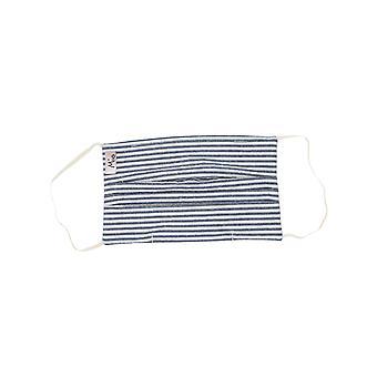 Mio UTS2 Boating Jacket Stripes Blauw en Wit Katoenen Gezichtsmasker met afneembare neusdraad